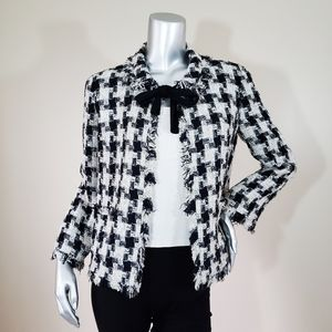Chanel Classic Tweed Houndstooth Jacket